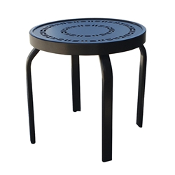 "Windward Mayan Aluminum 18"" Round Stackable Side Table - WT1818STMYN"
