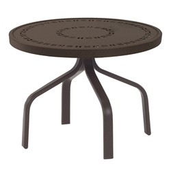 "Windward Mayan Aluminum 24"" Round Side Table - WT2418MYN"