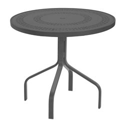 "Windward Mayan Aluminum 30"" Round Dining Table - WT3018MYN"