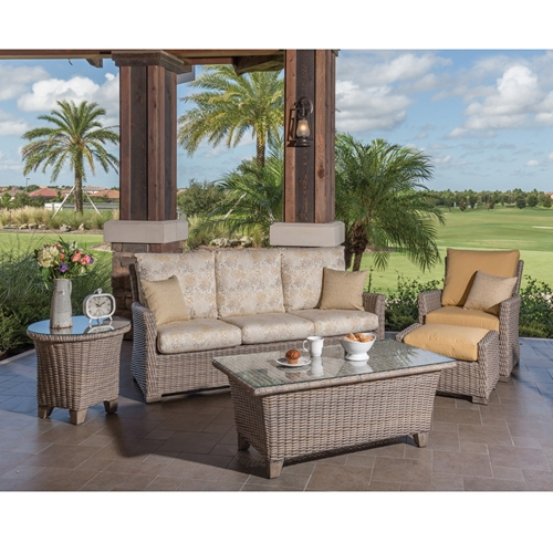 Windward Oxford Deep Seating Sofa and Lounge Chair Outdoor Wicker Set - WW-OXFORD-SET2