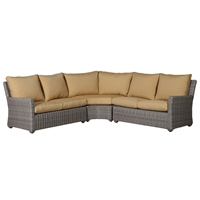 Windward Oxford Driftwood Wicker Deep Seating Outdoor Sectional - WW-OXFORD-SET5