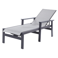 Windward Sienna MGP Sling Chaise Lounge with Arms - W7110A