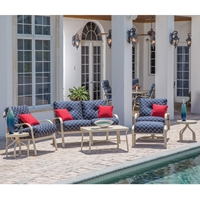 Windward Sonata Deep Seating Love Seat and Lounge Chair Patio Set - WW-SONATA-SET2