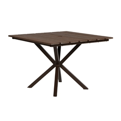 "Windward Tahoe Plank 40"" Square Dining Table - KD4025STP"