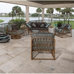 Woodard Cane 7 Piece Deep Seating Patio Set - WD-CANE-SET1