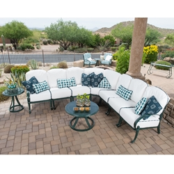 Woodard Holland Cast Aluminum Sectional Set - WD-HOLLAND-SET3