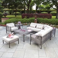 Woodard Jax L-Sectional Patio Set - WD-JAX-SET3