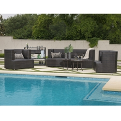Woodard McQueen Outdoor Wicker Patio Set - WD-MCQUEEN-SET1