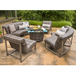 Woodard Reunion Outdoor Wicker Patio Set - WD-REUNION-SET1