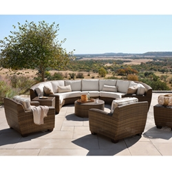 Woodard Saddleback Wicker Sectional with Lounge Chairs - WD-SADDLEBACK-SET10